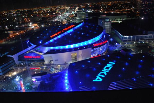 リッツカールトンロサンゼルスから見えるステープルズセンター