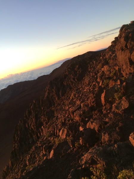 ハレアカラ火山の岩肌