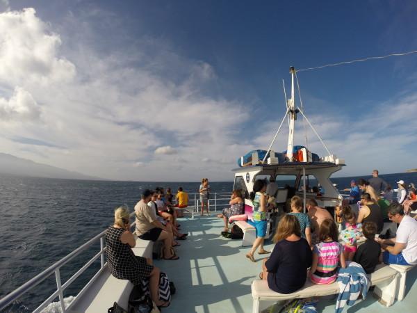 Pride of Maui(プライドオブマウイ)の船上
