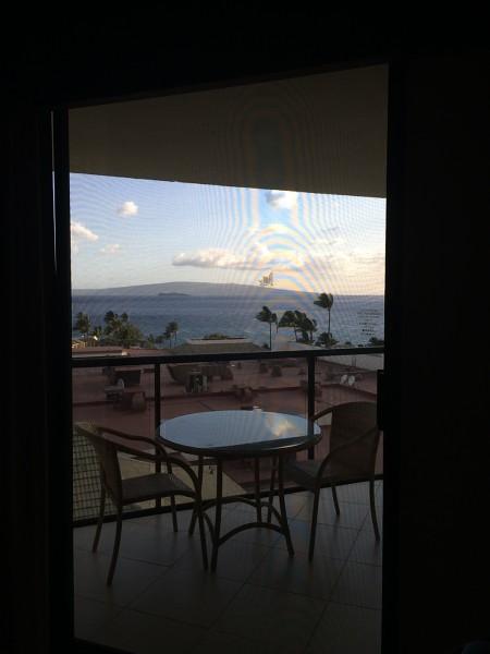 ワイレアビーチマリオットの部屋からの眺め2