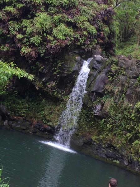 滝壺に入れる滝