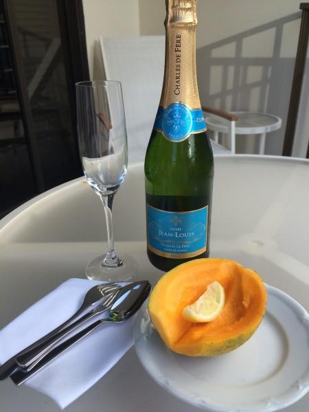 シャンパンとパパイヤ