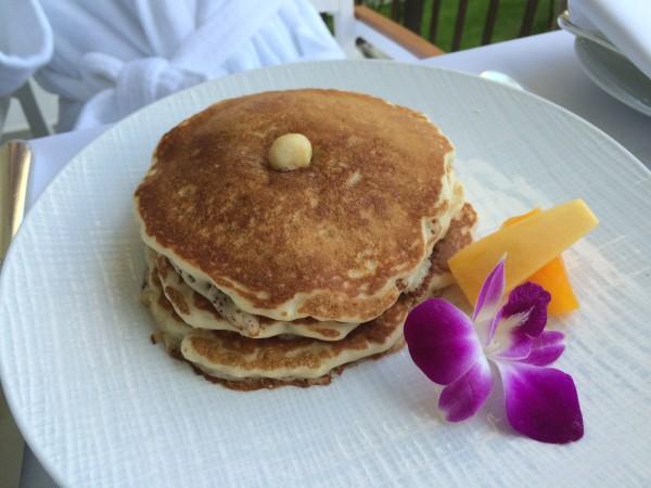 インルームダイニング(朝食)のパンケーキ