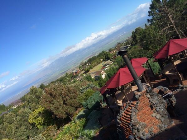 Kula Lodge(クラロッジ)のガーデンからの眺め