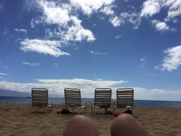 Kaanapali Beach(カアナパリビーチ)で一休み