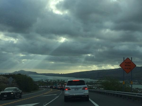 ハナウマ湾の帰り道