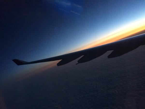 帰りのHawaiian Airから見る空