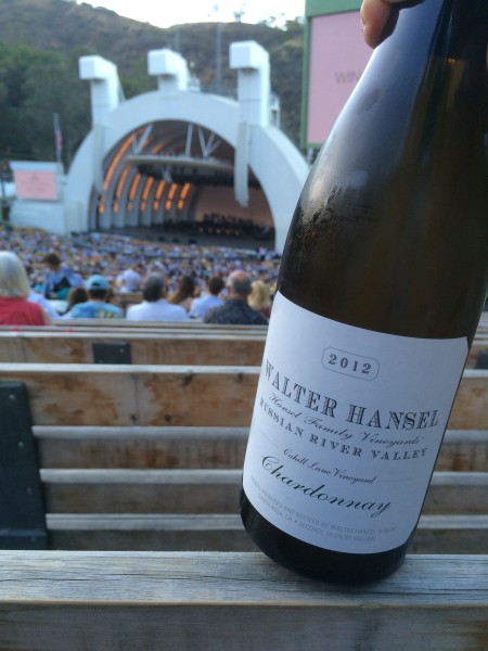 ハリウッドボウルでワイン