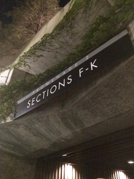ハリウッドボウルの座席入口