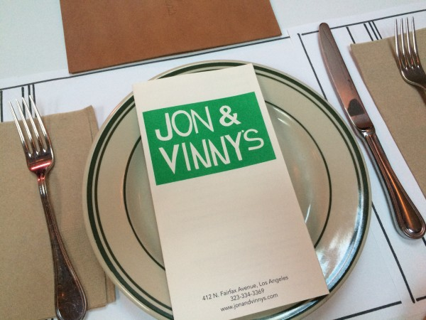 Jon and Vinnysメニュー
