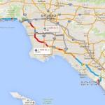 ロサンゼルスの距離感をつかもう!(日本の地図と比較してみました。)
