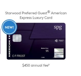 SPG Luxury Card